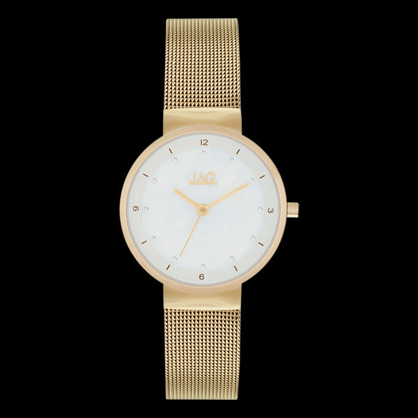 JAG LADIES KRYSTAL GOLD MOTHER OF PEARL DIAL WATCH