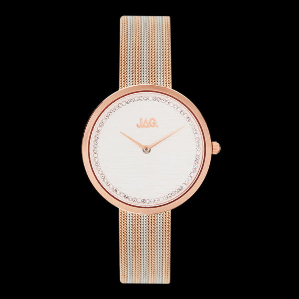 JAG LADIES TEGAN ROSE GOLD & SILVER WHITE DIAL WATCH
