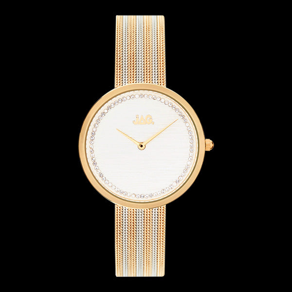 JAG LADIES TEGAN GOLD & SILVER WHITE DIAL WATCH