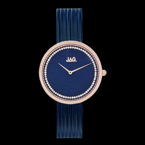 JAG LADIES TEGAN ROSE GOLD & NAVY BLUE DIAL WATCH