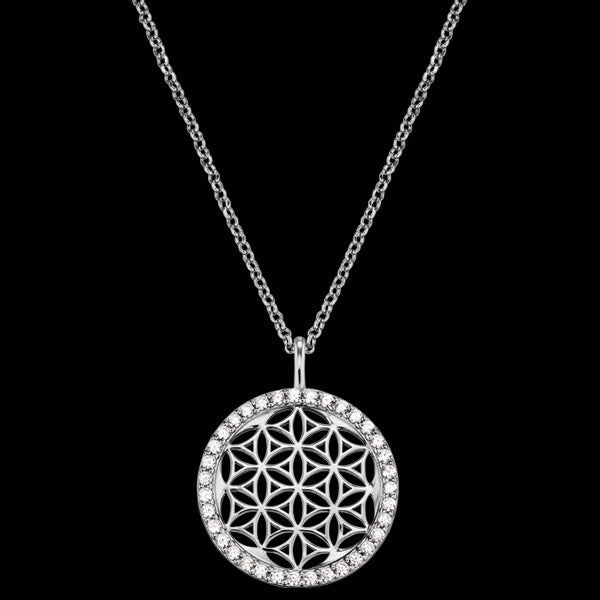 ENGELSRUFER SILVER FLOWER OF LIFE CZ NECKLACE