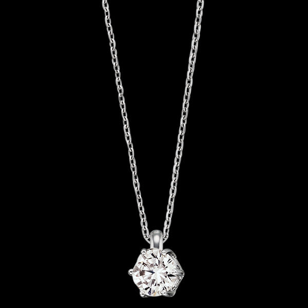ENGELSRUFER SILVER SHINY SOLITAIRE CZ NECKLACE