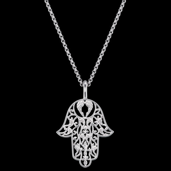 ENGELSRUFER SILVER LITTLE HAND OF FATIMA NECKLACE