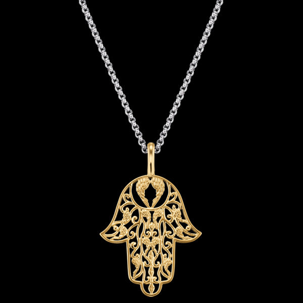 ENGELSRUFER GOLD LITTLE HAND OF FATIMA NECKLACE