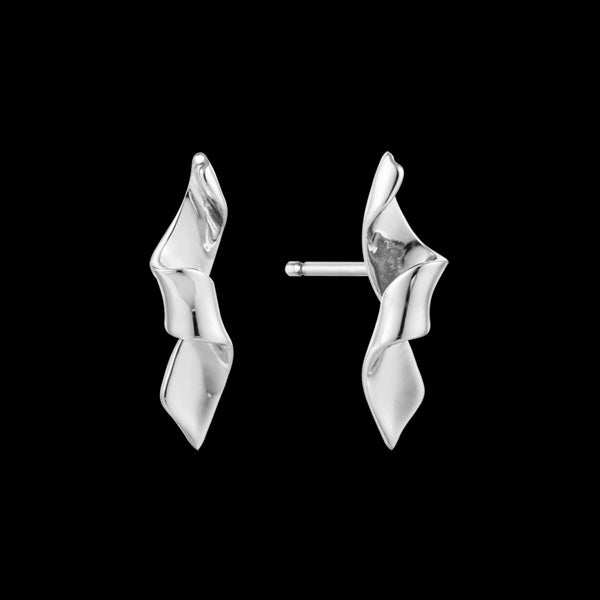 ANIA HAIE TWISTER SILVER HELIX STUD EARRINGS