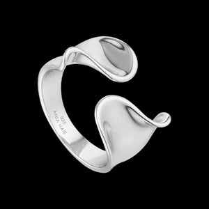 ANIA HAIE TWISTER SILVER TWIST WIDE ADJUSTABLE RING