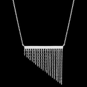 ANIA HAIE FRINGE APPEAL SILVER FRINGE FALL 40-45CM NECKLACE