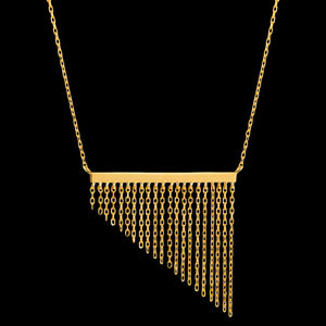 ANIA HAIE FRINGE APPEAL GOLD FRINGE FALL 40-45CM NECKLACE