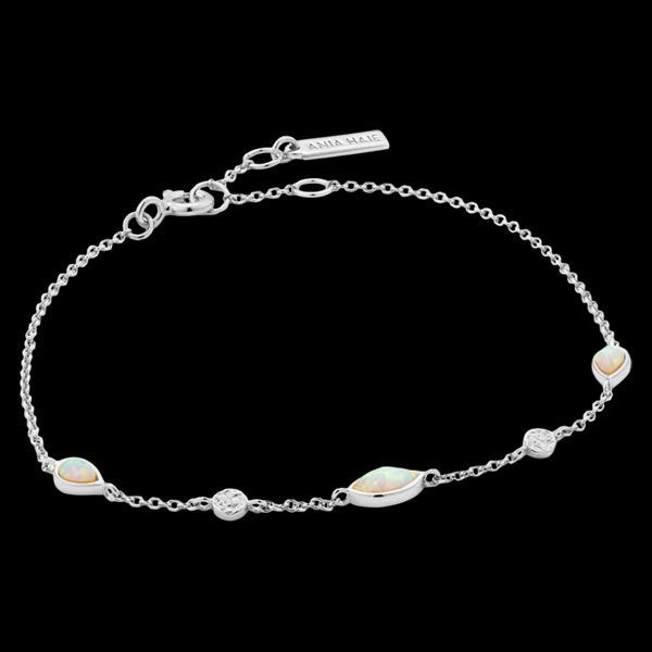 ANIA HAIE MINERAL GLOW SILVER OPAL COLOUR BRACELET