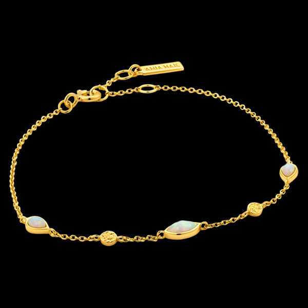 ANIA HAIE MINERAL GLOW GOLD OPAL COLOUR BRACELET