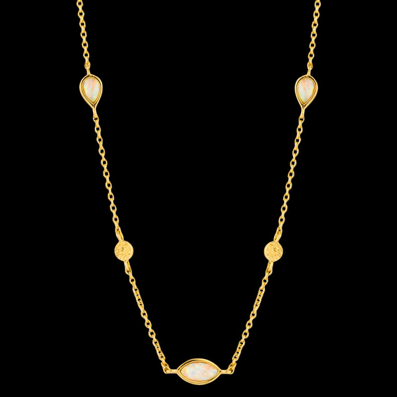 ANIA HAIE MINERAL GLOW GOLD OPAL COLOUR 33-38CM NECKLACE
