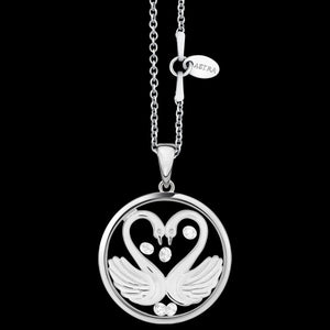 ASTRA MY SWEETHEART 20MM CIRCLE STERLING SILVER NECKLACE