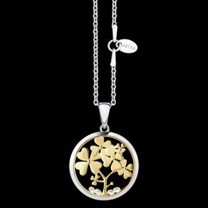ASTRA TREE OF LOVE 16MM CIRCLE STERLING SILVER GOLD NECKLACE