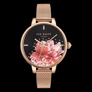 TED BAKER LADIES KATE PEONY 36MM ROSE GOLD MESH WATCH
