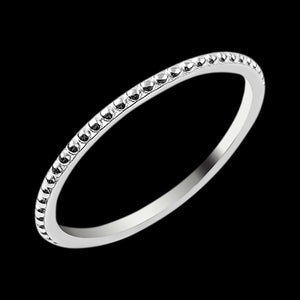 LUXXURY STERLING SILVER BEAD STACKER RING