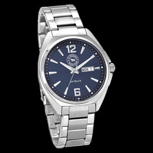 RINGERS WESTERN OUTBACK BLUE DIAL STEEL WATCH