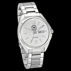RINGERS WESTERN OUTBACK WHITE DIAL STEEL WATCH