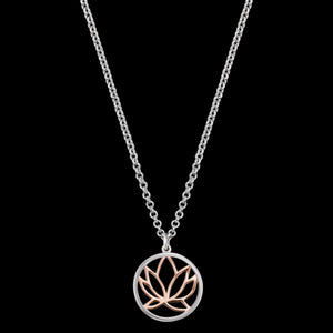 ENGELSRUFER SILVER ROSE GOLD LOTUS NECKLACE