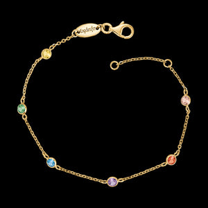 ENGELSRUFER GOLD RAINBOW CZ MOONLIGHT BRACELET