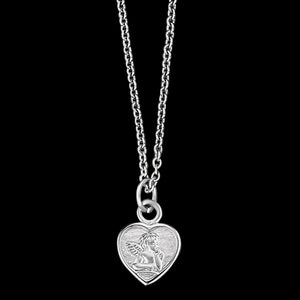 HERZENGEL CHILDREN'S SILVER ANGEL HEART NECKLACE