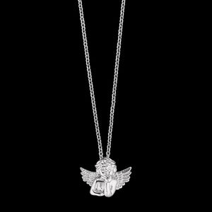 HERZENGEL CHILDREN'S SILVER WINGED ANGEL NECKLACE
