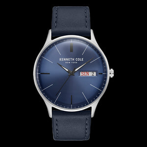 KENNETH COLE NAVY BLUE DIAL CLASSIC MEN'S WATCH