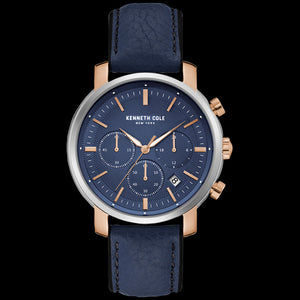 KENNETH COLE BLUE DIAL MULTIFUNCTION MEN'S WATCH