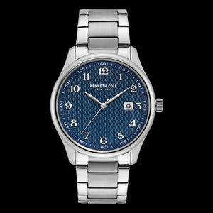KENNETH COLE BLUE DIAL CLASSIC MEN'S LINK WATCH