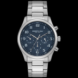 KENNETH COLE BLUE DIAL MULTIFUNCTION MEN'S LINK WATCH