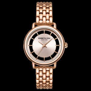 KENNETH COLE ROSE GOLD TRANSPARENCY LADIES LINK WATCH