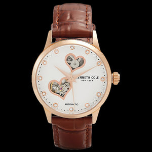 KENNETH COLE TWO HEARTS SKELETON AUTOMATIC LADIES WATCH