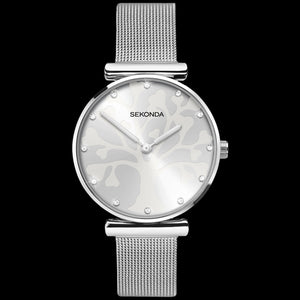 SEKONDA LADIES SILVER TREE OF LIFE MESH WATCH