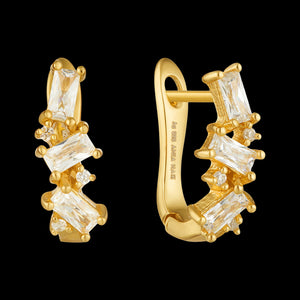 ANIA HAIE GLOW GETTER GOLD CLUSTER HUGGIE EARRINGS