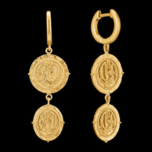 ANIA HAIE GOLD DIGGER AXUM MINI HOOP DROP EARRINGS