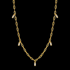 ANIA HAIE GLOW GETTER GOLD GLOW DROP 35-40CM NECKLACE