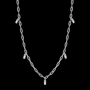 ANIA HAIE GLOW GETTER SILVER GLOW DROP 35-40CM NECKLACE
