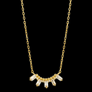 ANIA HAIE GLOW GETTER GOLD GLOW SOLID BAR 40-45CM NECKLACE