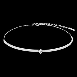 ANIA HAIE GLOW GETTER SILVER CLUSTER CHOKER 32-37CM NECKLACE