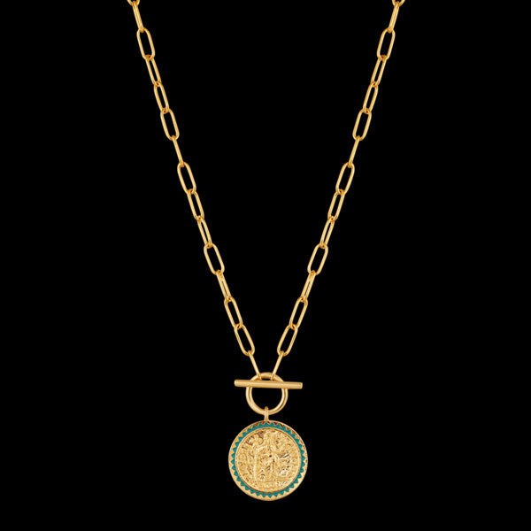 ANIA HAIE GOLD DIGGER EMPEROR T-BAR 40CM NECKLACE