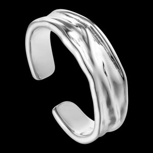 ANIA HAIE METAL CRUSH SILVER CRUSH ADJUSTABLE RING