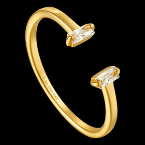ANIA HAIE GLOW GETTER GOLD GLOW ADJUSTABLE RING