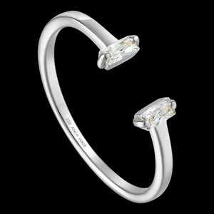 ANIA HAIE GLOW GETTER SILVER GLOW ADJUSTABLE RING