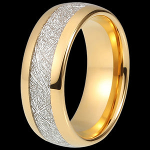 MAXIMAN GLACIER GOLD 8MM MEN'S TUNGSTEN CARBIDE RING