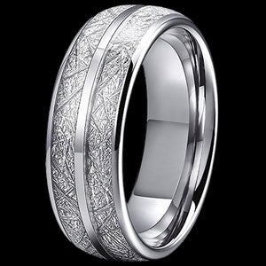 MAXIMAN GLACIER 8MM MEN'S TUNGSTEN CARBIDE RING
