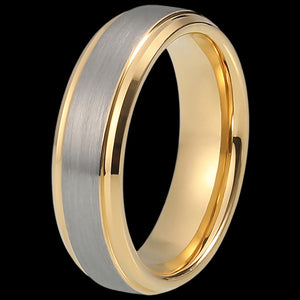 MAXIMAN PURITY GOLD 6MM MEN'S TUNGSTEN CARBIDE RING