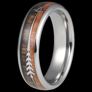MAXIMAN WOODSMAN ARROW 6MM MEN'S TUNGSTEN CARBIDE RING