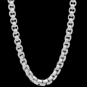 STAINLESS STEEL MEN'S ROUND BOX CHAIN 49CM NECKLACE