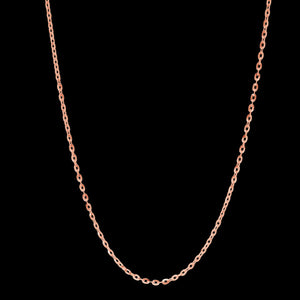 LUXXURY 2.5MM STERLING SILVER ROSE GOLD PLATE DIAMOND CUT ANCHOR CHAIN NECKLACE