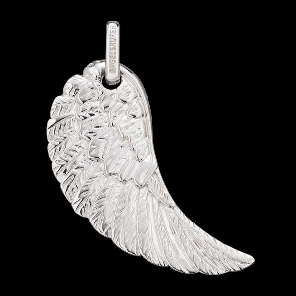 ENGELSRUFER SILVER LARGE SCULPTURED WING PENDANT