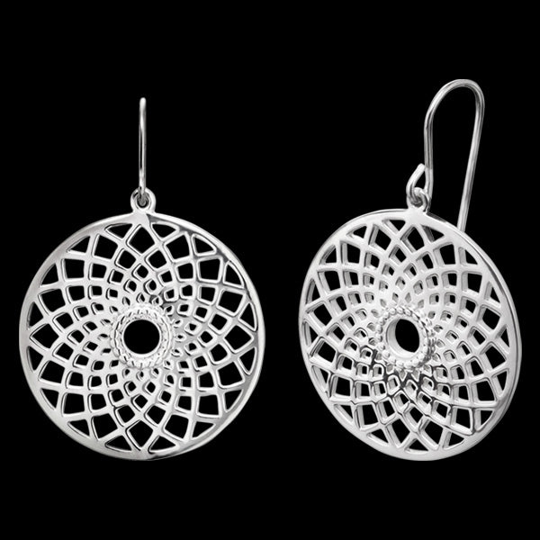 ENGELSRUFER SILVER DREAMCATCHER DROP EARRINGS